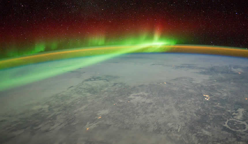 Aurora above the Earth